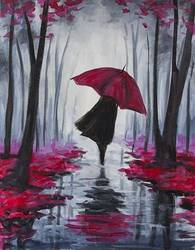 A Autumn Stroll II paint nite project by Yaymaker