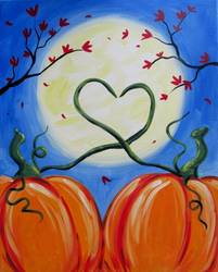 A Love in Fall Fall in Love paint nite project by Yaymaker