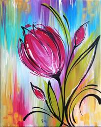 A Whimsical Tulip paint nite project by Yaymaker