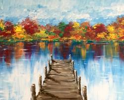 A Autumn at the Dock paint nite project by Yaymaker
