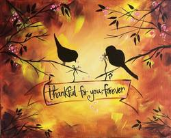A Thankful for You Forever paint nite project by Yaymaker