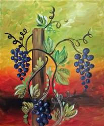 A Grape Vine in the Fall paint nite project by Yaymaker