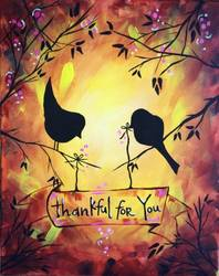 A Thankful for You paint nite project by Yaymaker
