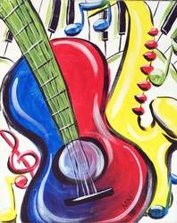 A Music in Color paint nite project by Yaymaker
