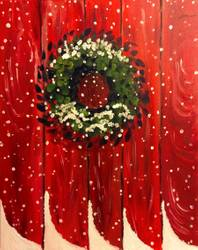 A Winter Wreath paint nite project by Yaymaker