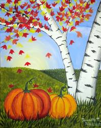 A Fall Pumpkins paint nite project by Yaymaker