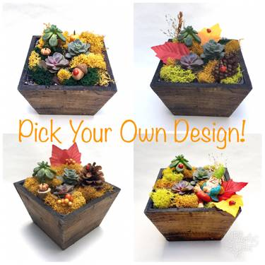 A PIck Your Own Design Fall Wooden Planter plant nite project by Yaymaker