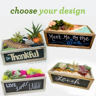 A Choose Your Chalkboard Planter Design plant nite project by Yaymaker