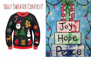 Christmas Ugly Sweater.Paint Nite At Atg At Against The Grain Louisville Ky Us Yaymaker