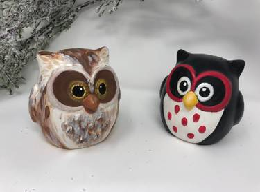 A Ceramic Owl ceramic painting project by Yaymaker