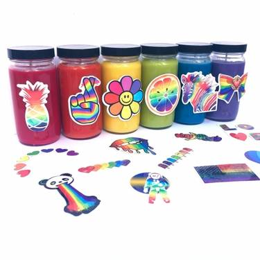 A Rainbow Candles  Make A Set of 3 candle maker project by Yaymaker