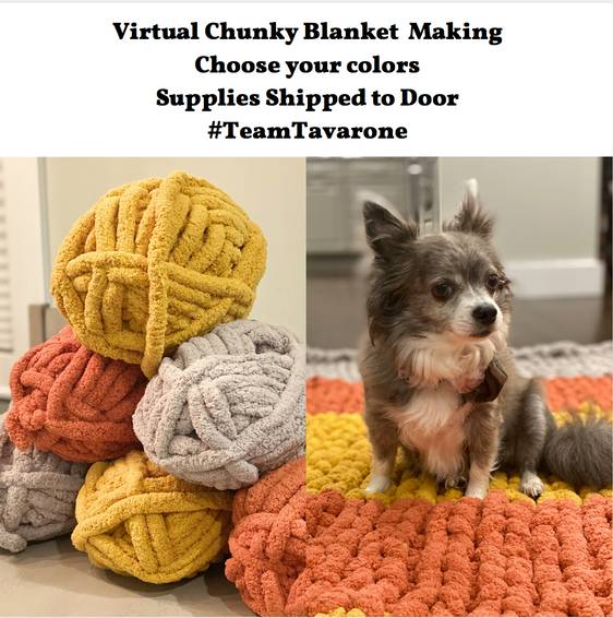 A Limited Edition Colors Virtual Chunky Blanket Making TeamTavarone experience project by Yaymaker