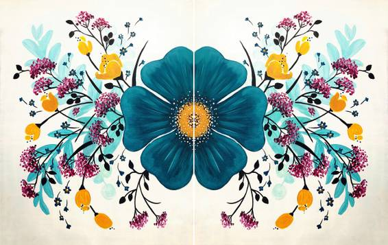 A Fanciful Floral III Partner Painting experience project by Yaymaker