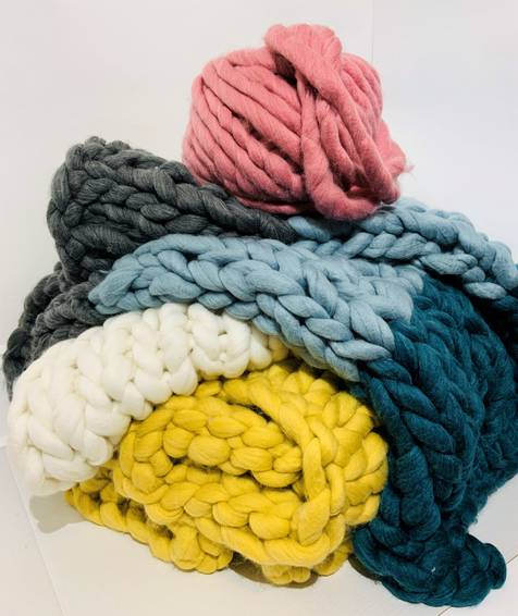 A Multi Colour Chunky Blanket II experience project by Yaymaker