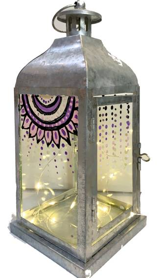 A Mandala Lantern with Fairy Lights experience project by Yaymaker