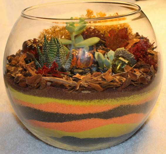 A Fall Sand Art plant nite project by Yaymaker