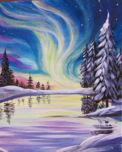 A Mystical Aurora paint nite project by Yaymaker