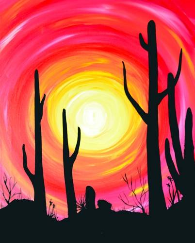 A Blazing Desert paint nite project by Yaymaker