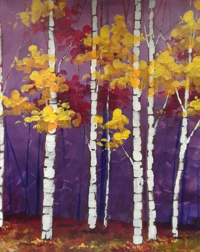 A Birch Dusk paint nite project by Yaymaker