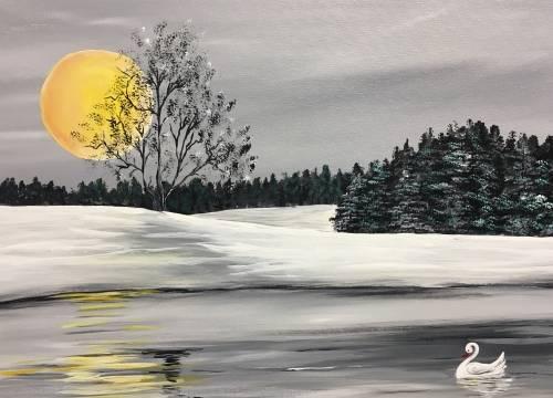 A Winter Lake II paint nite project by Yaymaker