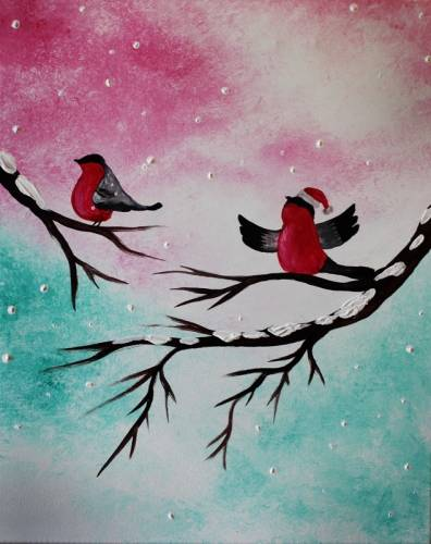 A Christmas Serenade paint nite project by Yaymaker