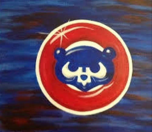 A Go cubs paint nite project by Yaymaker