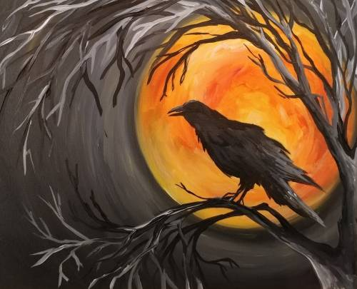 A Raven Moon paint nite project by Yaymaker