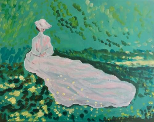 A Monets Springtime paint nite project by Yaymaker