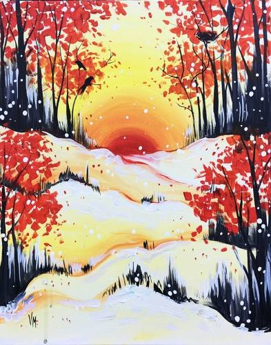 A Winter in Red paint nite project by Yaymaker