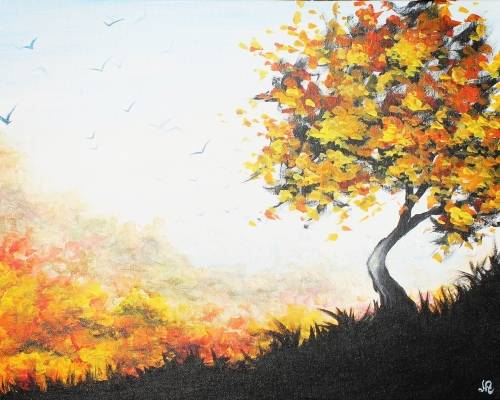 A Fall Mirage paint nite project by Yaymaker