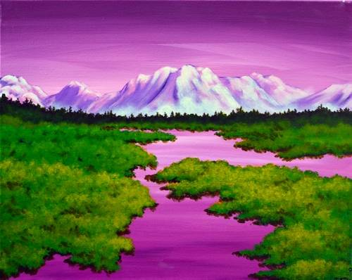 A Purple Mountain Majesty paint nite project by Yaymaker