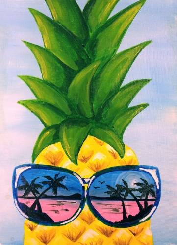 A Pineapple Reflection paint nite project by Yaymaker