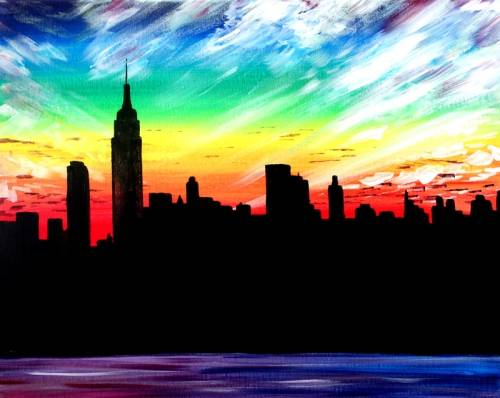 A A New York Sky paint nite project by Yaymaker