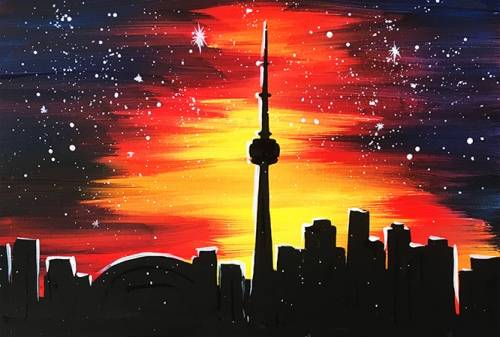 A Night Toronto II paint nite project by Yaymaker