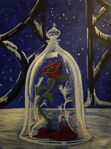 A The Enchanted Rose II paint nite project by Yaymaker