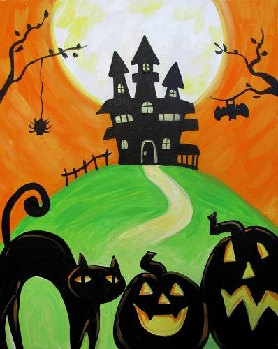 A The Spooky House paint nite project by Yaymaker