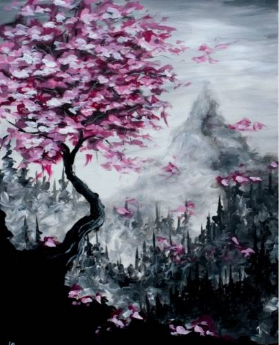 A Blossoms and Pines paint nite project by Yaymaker