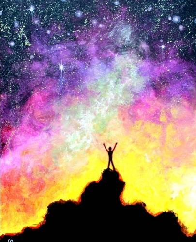 A Feel Good Galaxy paint nite project by Yaymaker