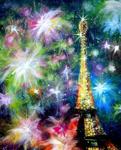 A Paris Celebrations II paint nite project by Yaymaker