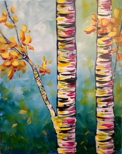 A Bright and Birchy paint nite project by Yaymaker