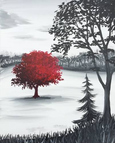 A The Red Tree paint nite project by Yaymaker