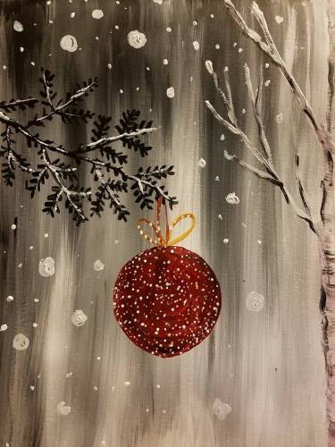 A Red Ornament paint nite project by Yaymaker