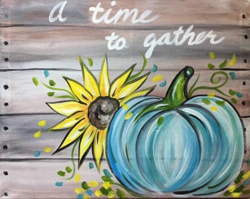 A A Time to Gather paint nite project by Yaymaker