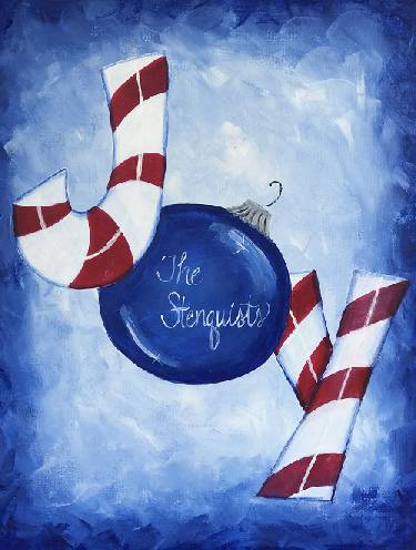 A Peppermint Joy paint nite project by Yaymaker