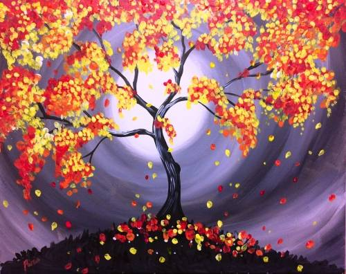 A Magic of the Fall paint nite project by Yaymaker
