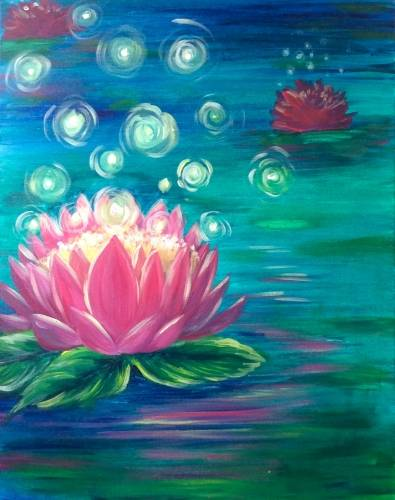 A Lotus Firefly Glow paint nite project by Yaymaker