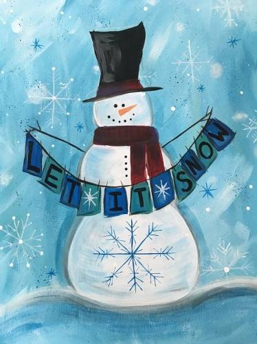 A Let it Snow III paint nite project by Yaymaker