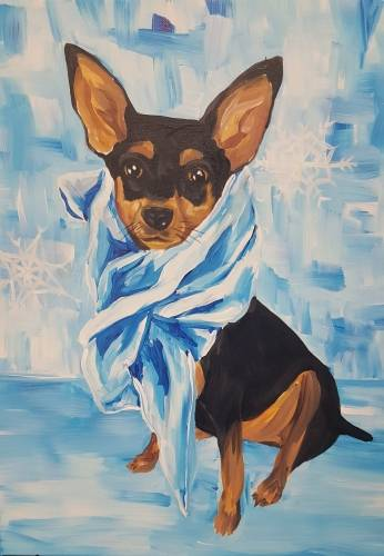 A Paint Your Pet  Winter Edition paint nite project by Yaymaker