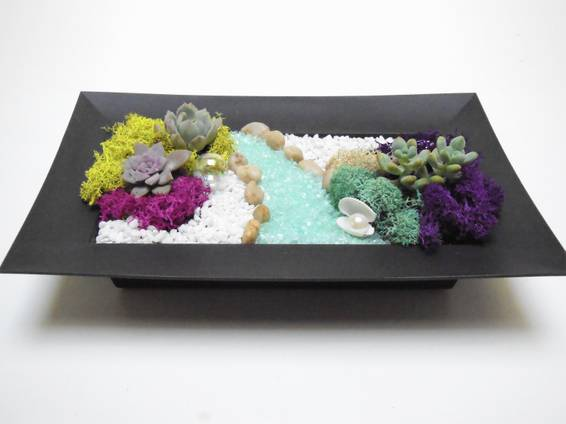 A Secret Garden  Rectangular Tray plant nite project by Yaymaker