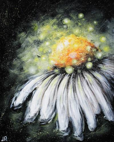 A Enchanted Daisy paint nite project by Yaymaker